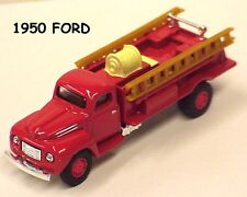 Golden Wheel 1:87 scale 1950's Ford red Fire Truck with ladders in window box