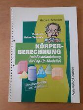 Übungsbuch Kopiervorlagen Mathematik: Körperberechnung (mit Bastelanleitungen)