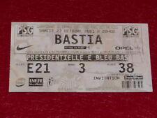 COLLECTION SPORT FOOTBALL  TICKET PSG   BASTIA 27 OCTOBRE 2001 Champ.France 5461552cef2
