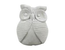 Owl Ornament Sculpture Decoration Clay Stone Outdoor Indoor Garden Statue Gift