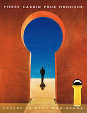 PUBLICITE ADVERTISING 035  1984  PIERRE CARDIN  eau de toilette pour homme