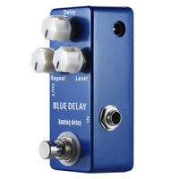 New BLUE Analog Delay Guitar Effect Pedal True Bypass F0W1