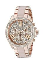 NEW Michael Kors MK6096 Wren Blush Rose Gold Crystal Ladies Watch