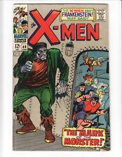 Uncanny X-Men #40 (1968) KEY! Frankenstein's monster appearance; Cyclops origin
