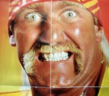 "36"" x 24"" WWE Hulk Hogan Reversible Wall Poster pre owned Never Hung FREE Shippn"