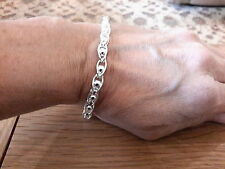 Brand new 925 stamped silver plated  bracelet with oval link and balls+ gift box