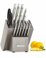 KitchenAid 16-Pc. Stainless Steel Cutlery Knife Block Set w/Sharpener Sealed New
