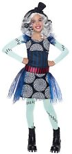Girls Deluxe Frankie Stein Costume Monster High Fancy Dress Franky S M L Child