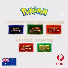 Pokemon Gameboy Advance Games Emerald, Sapphire, Leaf Green, Ruby, Fire Red