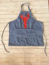 Vintage Striped Lobster Embroidered Apron The Perfect Setting One Size