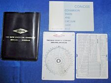 CIRCULAR SLIDE RULE CTCS-552 Concise Conversion Tables Dow Chemical Case Japan