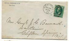 1881 NY Cover to Wife of Civil War General John G Barnard , Iron Cross backcance