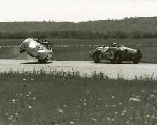 Vintage 8X10 SCCA 1965 Courtland, AL Porsche Wrecking & TR3 Auto Racing Photo