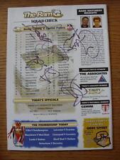 20/12/1997 Derby County V Crystal Palace [mano firmada por 4 en línea-ups]. cualquier F