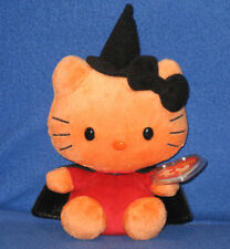 TY HELLO KITTY HALLOWEEN WITCH BEANIE BABY - MINT with MINT TAGS