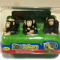 Fisher-Price Little People Zoo Talkers Chimpanzee Family animals figure toy gift