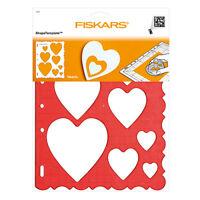 X8 Gabarits découpe coeur heart Shape Cutter Plus Fiskars COUTURE LOISIR CREATIF