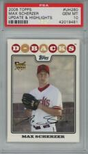 2008 Topps Update & Highlights #UH280 Max Scherzer RC Gem Mint PSA 10
