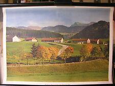 Schulwandbild Wandbild Bild Allgäu Bauernhof Oberstaufen Deutschland 72x51cm