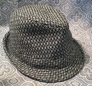 Metallic Hat Check Hat Cap By SOMETHING SPECIAL Fedora Hat #384