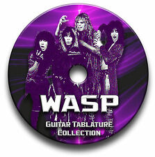 WASP  HEAVY METAL ROCK GUITAR TAB TABLATURE SONG BOOK SOFTWARE CD