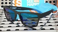 New Spy HAIGHT 2 Sunglasses Soft Matte Black-Blue Fade w/ Happy Dark Blue Flash