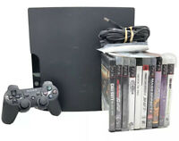 Sony PS3 Playstation Three Bundle With Controller Cords And 11 Games CECH-2001A