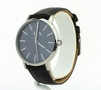 A|X Armani Exchange Men's Cayde Blue Dial Brown Leather Watch AX2704, New