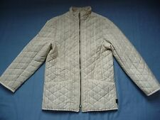 BARBOUR 12 10 M Jacket Coat LightWeight Quilted Stripy Pastels Made in England