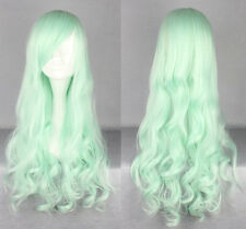 "24"" Light Green Lolita Curly Wavy Long Anime Cosplay Wig"
