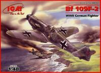 ICM 48102 Messerschmitt Bf-109 F2 German fighter, 1/48 scale plastic model kit