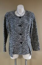 Spanner Inspired Style Ladies Black/Gray Blazer Jacket Size 14 RT $179