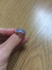 stunning  Tanzanite &  Sterling silver  ring size O Gems TV TJC