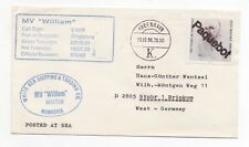 1988 DENMARK Paquebot Cover COPENHAGEN to STUHR GERMANY MV William