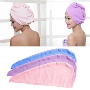 Bathing Microfiber Towel Quick Dry Hair Drying Wrap Hat Turban F0X5