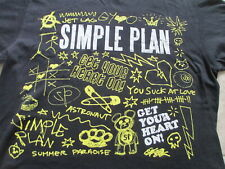 Simple Plan Black Yellow Graffiti Jet Lag Summer Paradise T Shirt Size S Small