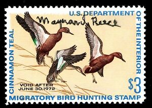 RW38 FEDERAL DUCK Signed by Artist Maynard Reece - OGNH - POST OFFICE FRESH!!