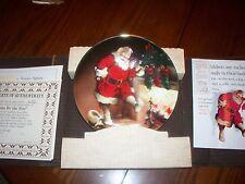 "1989 Bradford Exchange Plate ""Santa By The Fire"" #8177D"
