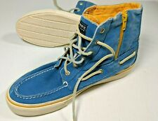Sperry Bahama Zipper Boot Saltwashed Twill Size 9 High Top Denim Sneaker RARE!