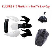 Black & White Plastics Kit Kawasaki KLX 110 KX 65 Suzuki DRZ 110 with Gas Tank