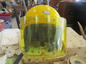 Vintage YELLOW BUCO Helmet with YELLOW FACE SHIELD  USA MADE