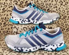 ADIDAS MARATHON 10 WOMENS RUNNING SHOES SIZE 8.5 GRAY TEAL BLUE BLACK