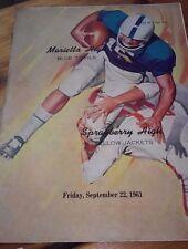 1961  Marietta High SCHOOL FOOTBALL PROGRAM Georgia