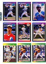 1989 DONRUSS BASEBALL Key cards, U-PICK $1.95 EACH, NM/M
