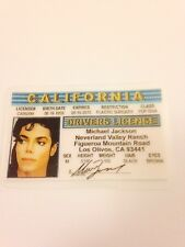Michael Jackson Novelty ID Card