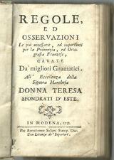 1732 (Modena) Antonio Pifferi - Grammatica francese