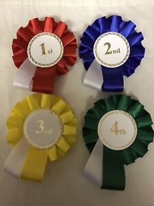 1 X 1st,2nd,3rd & 4th Rosettes