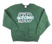 Vtg 80's Sweatshirt L Large San Diego Neon SD Green Wilson Crew neck USA