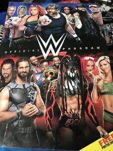 WWE Official Program 2016 Excellent WWF John Cena Randy Orton w POSTER