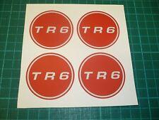 TR6 WHEEL CENTRE Stickers  - 50mm